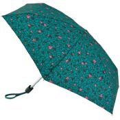 Lulu Guinness Tiny Folding Umbrella - Scribble Hearts