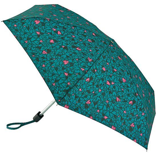 Lulu Guinness Tiny Folding Umbrella - Scribble Hearts