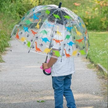 Susino Children's See-Through Dome Umbrella - Dinosaurs