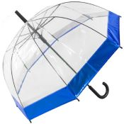 Susino See-Through Dome Umbrella with Metallic Border - Blue