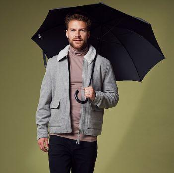 Fulton Governor - Black Walking Length Umbrella for Gents