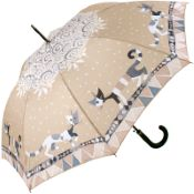 Rosina Wachtmeister Walking Length Art Umbrella - Brunello