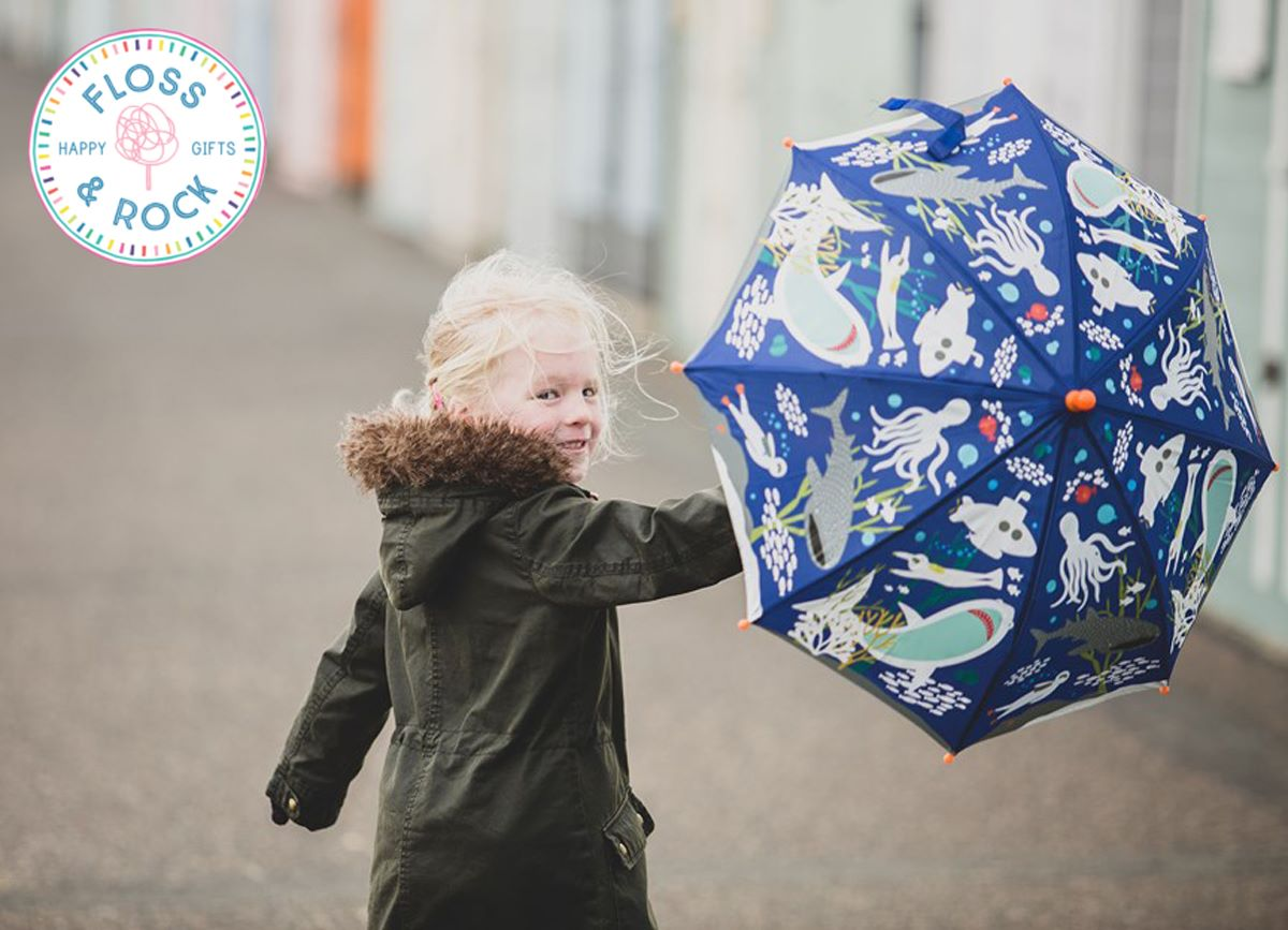 Colour Changing Children's Umbrellas by Floss & Rock Now Available