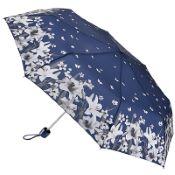 Fulton Minilite Folding Umbrella - Lillies & Snowdrops