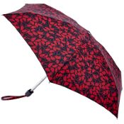 Lulu Guinness Tiny Folding Umbrella - All Over Hand Drawn Lips