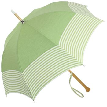 Laverne - UVP Green Parasol with White Stripes by Pierre Vaux