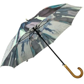 Stormking Art Print Walking Length Umbrella - Paris Street, Rainy Day by Caillebotte