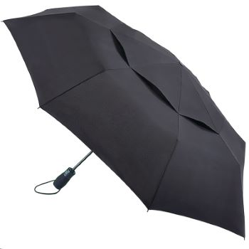 Fulton Performance Wind-Resistant Vented Folding Umbrella - Tornado