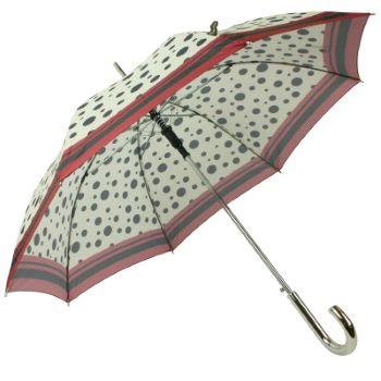 Riviera Auto Open Walking Length Umbrella - Burgundy