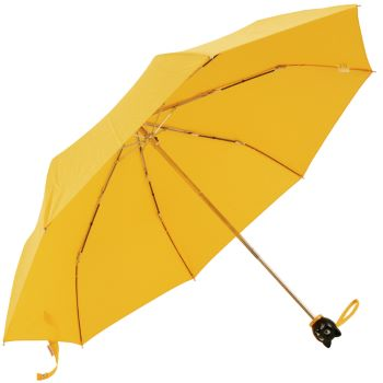 Cat Folding Umbrella by Rainbow of Milan - Golden Yellow