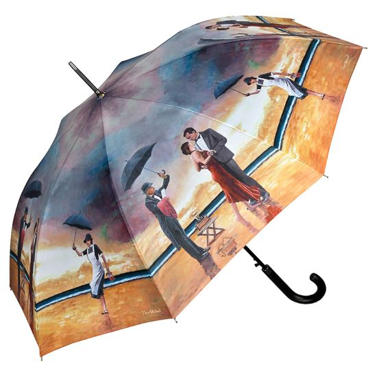 Theo Michael Walking Length Art Umbrella - Homage to The Singing Butler
