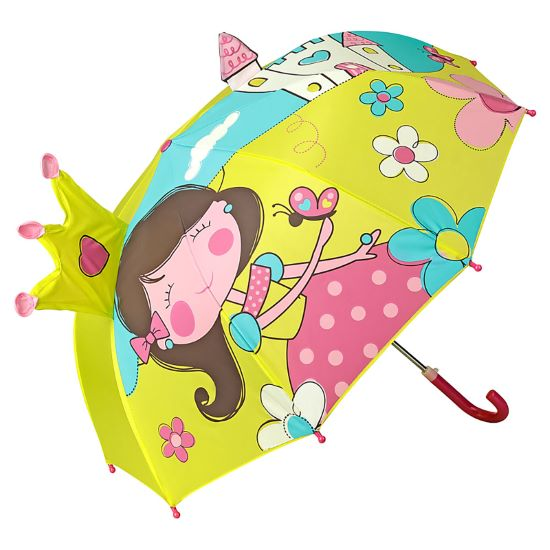 Children's 3D Umbrella - Princess & Castle