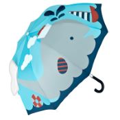 Children's 3D Umbrella - Whale & Boat