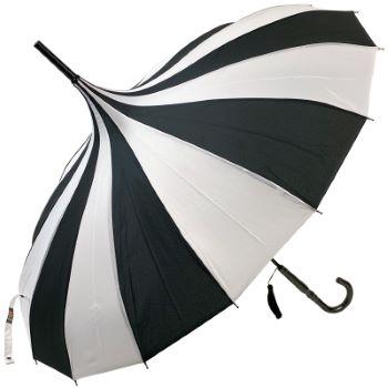 Classic Pagoda Umbrella from Soake - Black & White