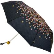 Joules Minilite Folding Umbrella - Cascading Floral