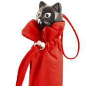 Cat Folding Umbrella by Rainbow of Milan - Deep Red
