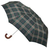 Joules Men's Minilite Folding Umbrella - Men's Check