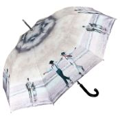 Theo Michael Walking Length Art Umbrella - Sirtaki