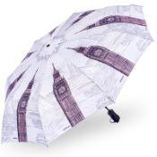 Stormking Automatic Open & Close Folding Umbrella - City Collection - London Mono