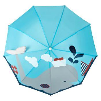 Children's 3D Umbrella - Whale & Boat