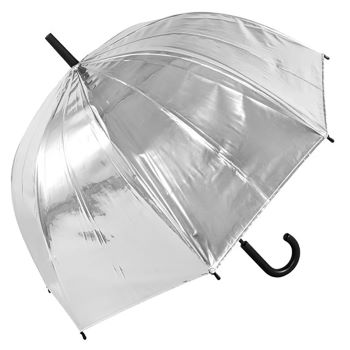 Susino Metallic Canopy Dome Umbrella - Silver