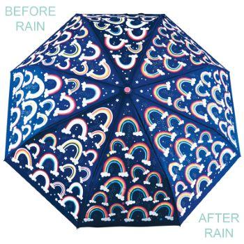 Colour Changing 'Big Kids' Folding Umbrella - Rainbows