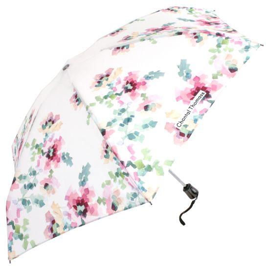 Chantal Thomass UVP Auto Open & Close Folding Umbrella - White Floral