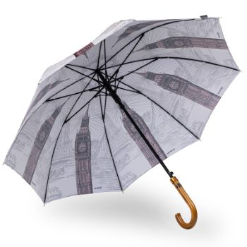 Stormking Classic Walking Length Umbrella - City Collection - London Mono