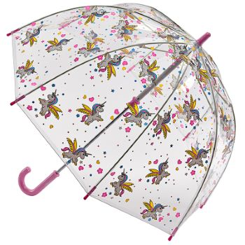 Fulton Funbrella Birdcage - Bella Unicorn - Clear Childrens Umbrella