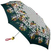 Joules Minilite Folding Umbrella - Heritage Peony Border Stripe