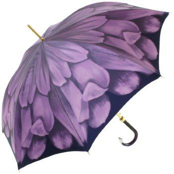 Dahlia Violet Single Canopy - Luxury Ladies Automatic Umbrella by Pasotti
