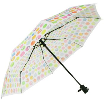 Laura Wall Auto Open & Close Folding Umbrella - Dots