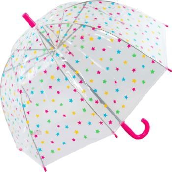 Susino Children's See-Through Dome Umbrella - Stars