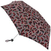Lulu Guinness Minilite Folding Umbrella - Dotty Lips