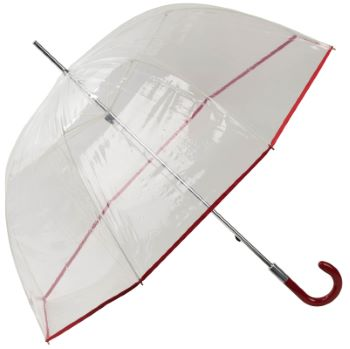 Slimtrim Transparent Dome Umbrella - Red