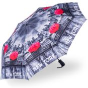 Stormking Automatic Open & Close Folding Umbrella - City Collection - New York Mono