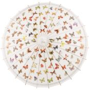 Chinese Paper and Bamboo Parasol - Butterfly Flurry