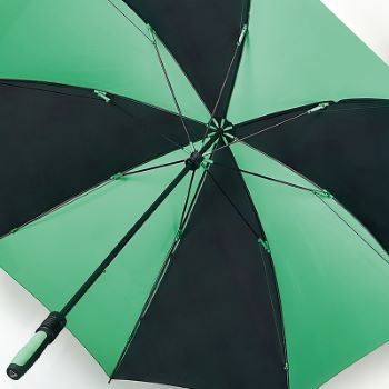 Fulton Performance Wind-Resistant Golf Umbrella - Cyclone - Green & Black