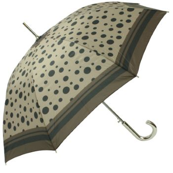 Riviera Auto Open Walking Length Umbrella - Stone