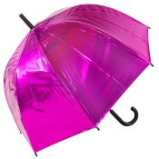 Susino Metallic Canopy Dome Umbrella - Pink