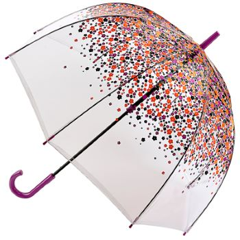 Fulton Birdcage Clear Dome Umbrella - Hippie Scatter
