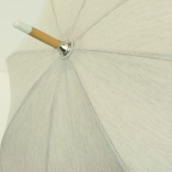 Camille - UVP Beige Parasol with Ivory Lace Band by Pierre Vaux