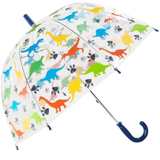 Susino Children's See-Through Dome Umbrella - Dinosaurs