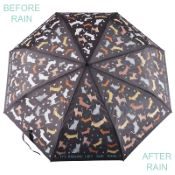 Colour Changing 'Big Kids' Folding Umbrella - Cats & Dogs