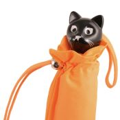 Cat Folding Umbrella by Rainbow of Milan - Orange