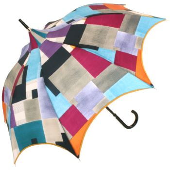 Charme - Geometric Abstract Scalloped Walking Length Umbrella by Guy de Jean