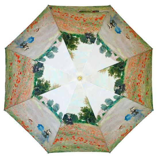 Stormking Art Print Walking Length Umbrella - Poppy Field by Monet