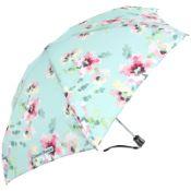 Chantal Thomass UVP Auto Open & Close Folding Umbrella - Peppermint Floral