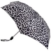 Fulton Tiny Folding Umbrella - Mono Cheetah