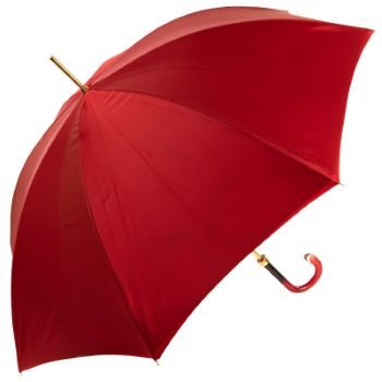 Dahlia Red Double Canopy - Luxury Ladies Umbrella by Pasotti